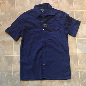 Silver jeans button up shirt